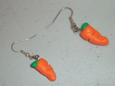 Manualidades de Arcilla Polimérica: cómo hacer unos pendientes de zanahoria