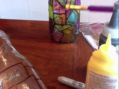 Reciclando una botella de vidrio
