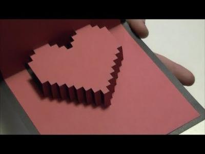 Tarjeta de corazon  en 3D