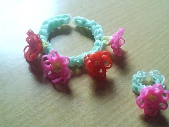 ♥ Tutorial: pulsera de flores hecha de gomitas ♥