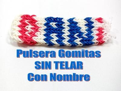 TUTORIAL PULSERA DE GOMITAS CON NOMBRE SIN TELAR.DANI.MANILLA CON GOMAS ELÁSTICAS NOMBRE DANI