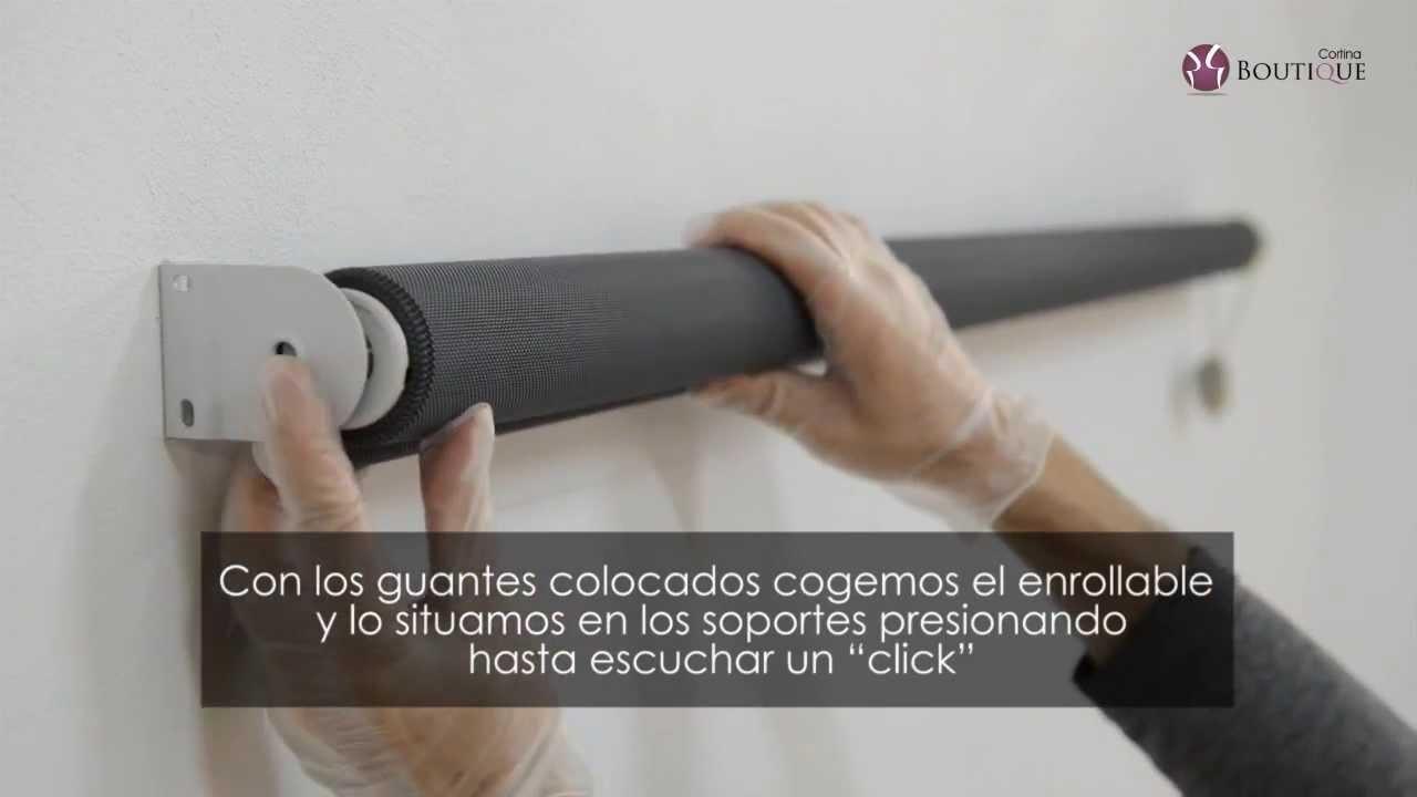 Video tutorial instalación de Enrollable sin Cajón