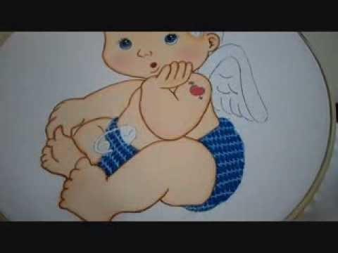 Bordado Fantasía Pañal Cupido