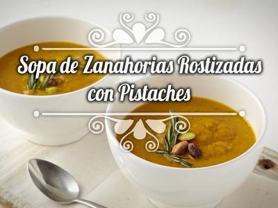 Chef Oropeza Receta: Sopa de zanahorias rostizadas con pistaches- Soup Recipe
