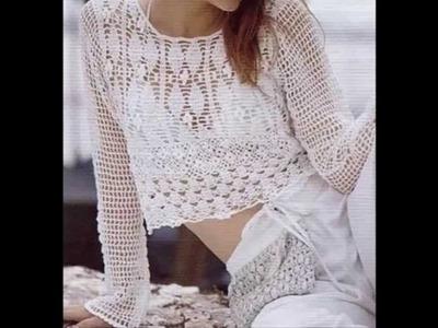 Combinación de Puntos Calados a Crochet