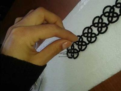 COMO ENDURECER UNA PULSERA DE TATTING O FRIVOLITE.HARD AS A BRACELET Tatting