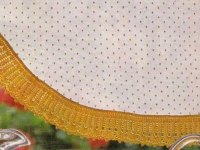 Como Tejer Orilla de Cortina, Mantel, etc. a crochet