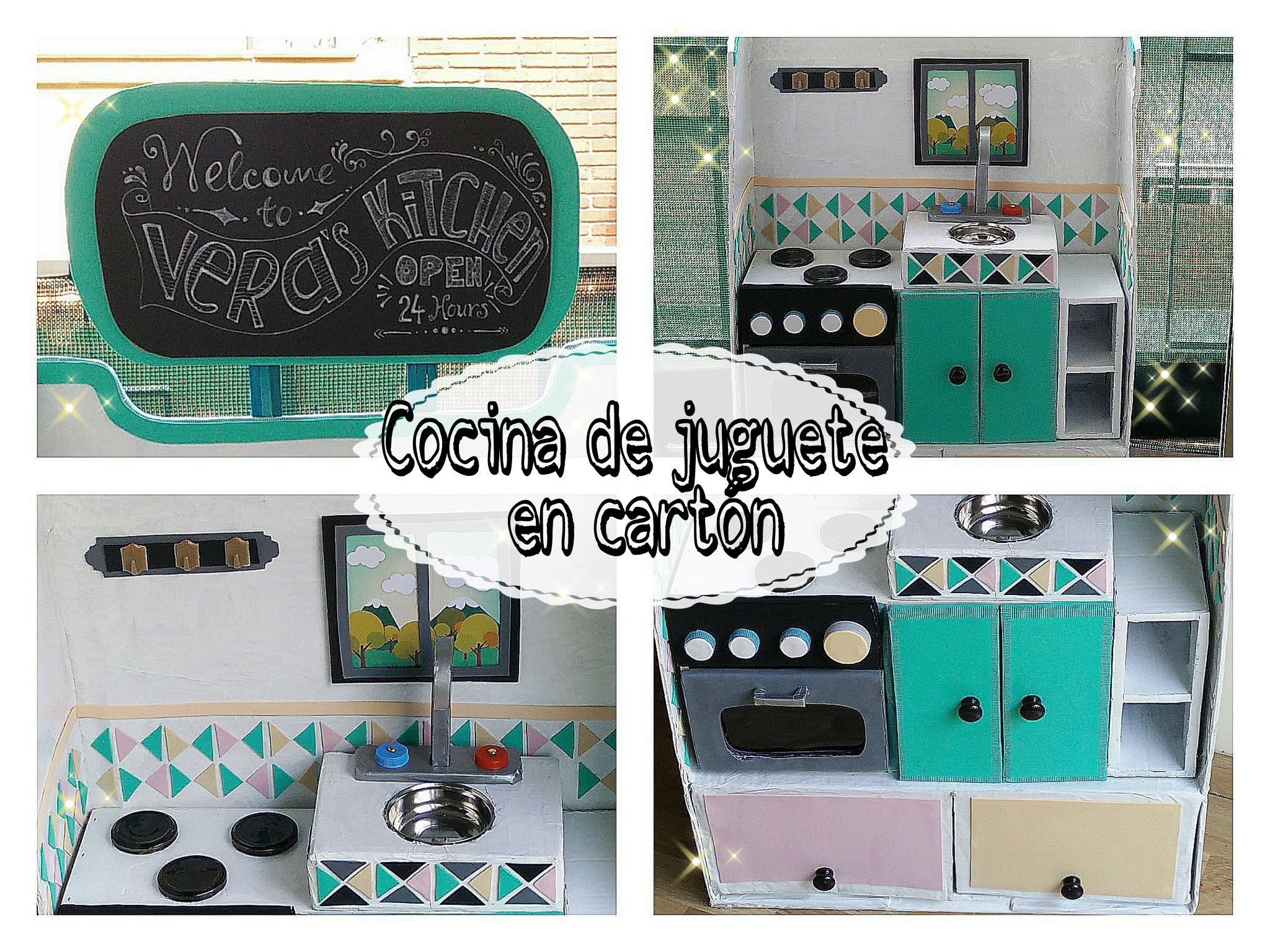 DIY ✿ Manualidades en cartón - Cocina de juguete | Cardboard playkitchen