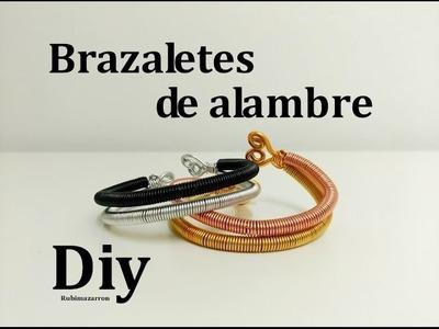 Diy.  Pulsera unisex de alambre de aluminio