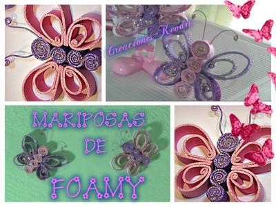 Mariposas de Foamy DIY.Butterfly made of craft foam