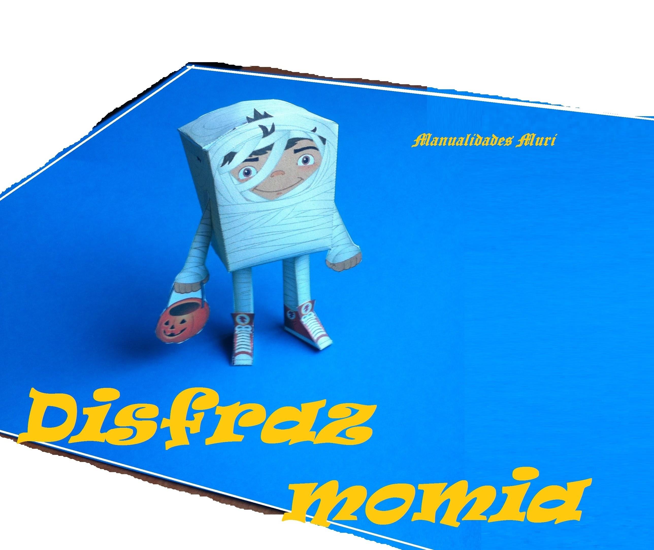Paper Toys. Origami - Papiroflexia. Disfraz de momia Halloween.