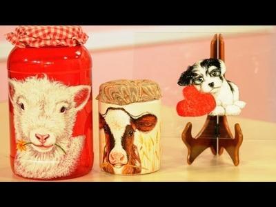 Pintar ovejitas con esmaltes al agua sobre envases de plastico - Ana Gjurinovich