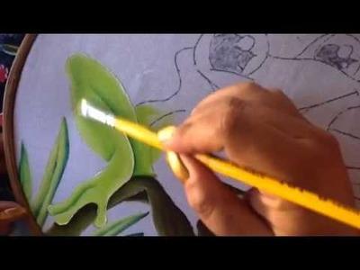 Pintura en tela ranita # 4 con cony
