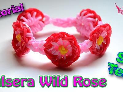♥ Tutorial: Pulsera Wild Rose (sin telar) ♥