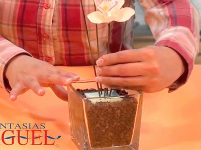 Cómo hacer un arreglo con orquídeas