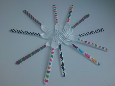 Cómo personalizar cubiertos con washi tape | facilisimo.com