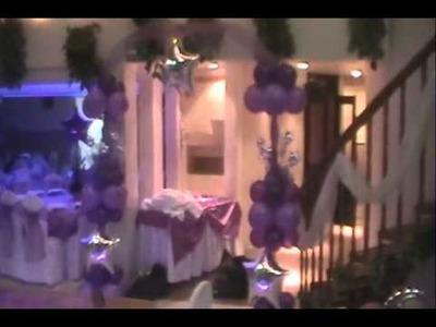 Decoracion con globos xv años