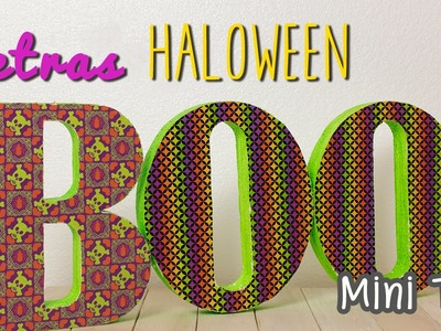 Decoraciones para Halloween - Letras 3D para decorar - Manualidades fáciles - Mini Tip# 58