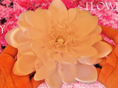 DIY como hacer flores Kanzashi en cintas de satín - as to make flowers in satin ribbons