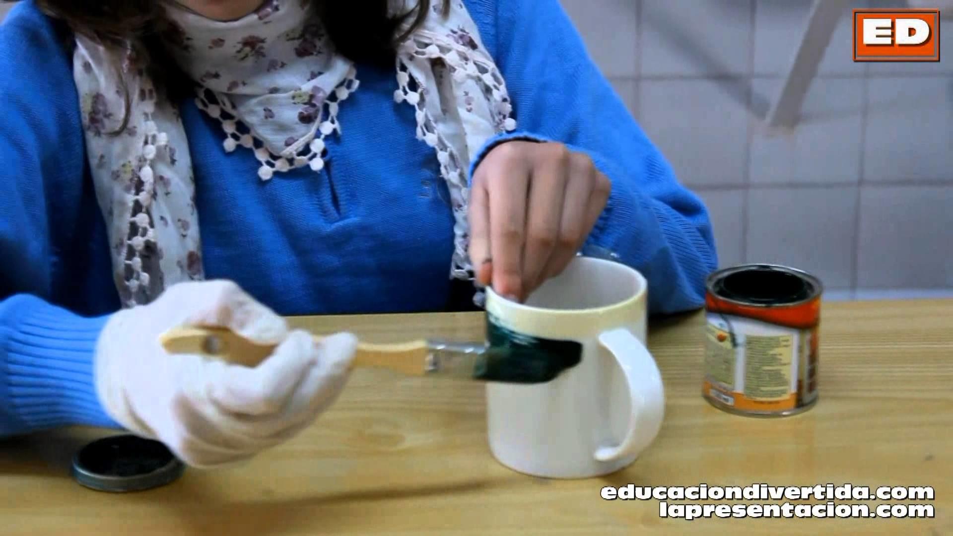 EDUCACIÓN ARTÍSTICA - DIY: Carlota nos explica como hacer una taza pizarra para el Día del padre
