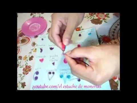 Figuras basicas de filigrana DIY paso a paso. quilling. Crafts