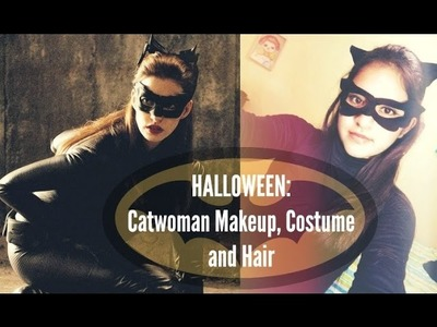Maquillaje, DIY, disfraz y peinado (Gatúbela). Halloween Catwoman Makeup, costume and hair