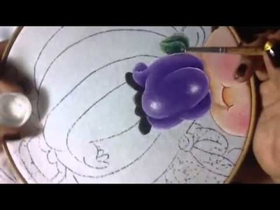 Pintura niña calabaza # 3 con cony