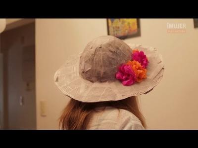 Sombrero de papel maché | Cómo hacer un sombrero | @iMujerHogar