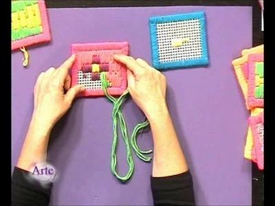 Tips para bordar en cañamazo con hilados fluo