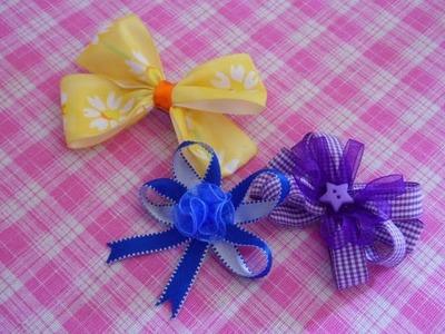 3 Ideas de Moños para niña