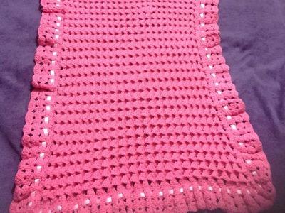 Cobija para bebé. Crochet, tejido muy fácil