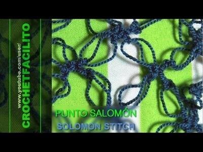 CROCHET - PUNTO SALOMÓN - SOLOMON STITCH