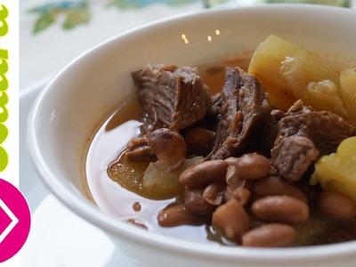 Delicioso Caldo de res con frijoles♥Recetas Saludables♥Recetas para el invierno