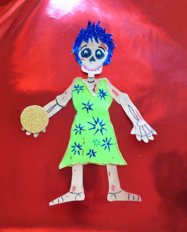 DIY Decora esqueleto papel Alegría Intensamente halloween Dia de Muertos  decorated paper skeleton