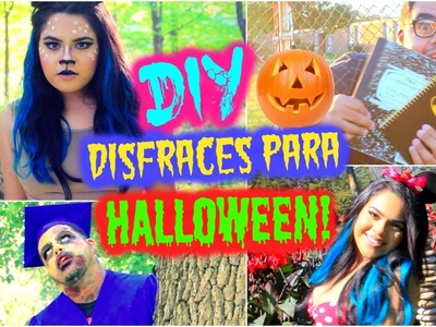 DIY: DISFRACES DIVERTIDOS Y BARATOS PARA HALLOWEEN 2015!! | Nel Pastel Tv