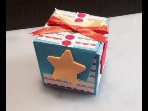 DIY: Tarjeta armable sorpresa cubo (scrapbook)