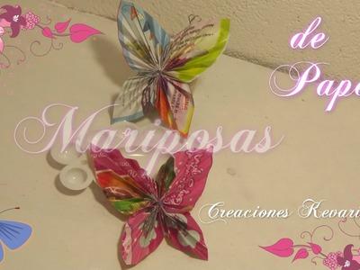 Mariposas de Papel Reciclado.DIY: Paper Butterfly Tutorial