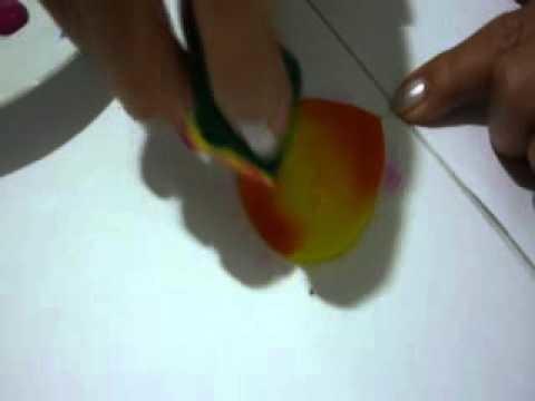 Tecnica de pintura para rosa en Goma eva