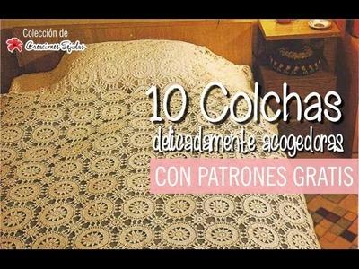 10 Colchas a Crochet delicadamente acogedoras