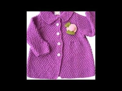 Abrigos bebe tejidos a Crochet ganchillo y dos agujas imagenes