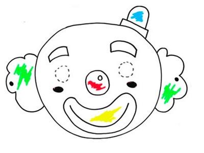 Aprende a dibujar una máscara de payaso para tus hijos
