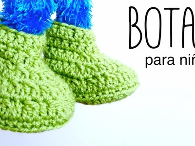 Botas para NIÑOS a crochet (zapatillas, pantuflas) DE 2 A 10 AÑOS | How to crochet BOOTS for kids