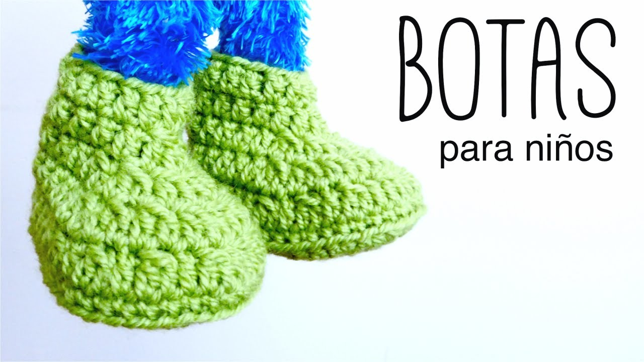 Botas para NIÑOS a crochet (zapatillas, pantuflas) DE 2 A 10 AÑOS | How to crochet BOOTS for kids