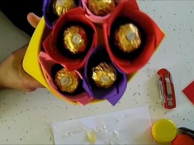 COMO HACER UN RAMO DE BOMBONES (CHUCHES) DE GOMA EVA (Branch  chocolates)