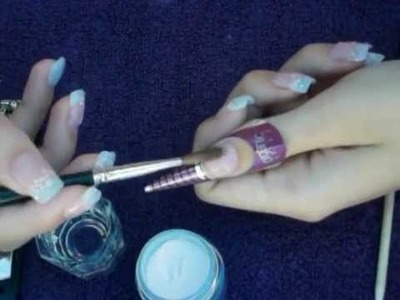 Como hacer uñas acrilicas Acrylic nails tutorial
