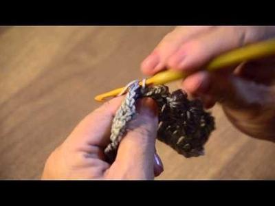 Cuello de 4 botones Punto media mariposa crochet 001