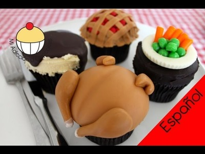 Cupcakes para un Festín de Pollo (Parte 1) Cupcakes para Cena de Pollo Rostizado