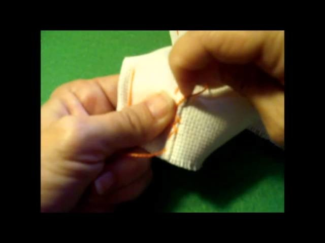 Curso de bordado básico 19: Dobladillo con cruzadillo