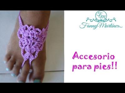 DIY-Crochet *Sandalias descalzas* (barefoot)