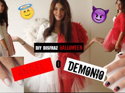 DIY HALLOWEEN: ÁNGEL O DEMONIO. DISFRAZ + UÑAS